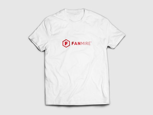 Fanmire T-Shirt white and red horizontal